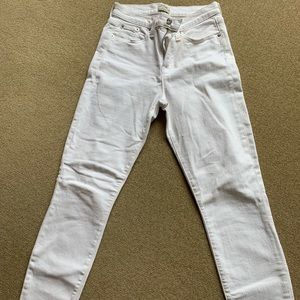 JCrew Lookout white, high rise, skinny jeans